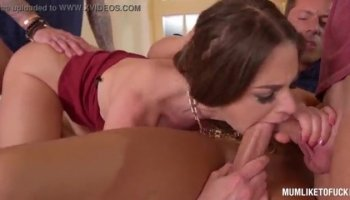 Wife catches her man fucking her huge mom