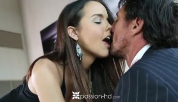 Alisha Adams makes her tight twat cum hard
