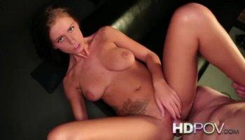CyberSlut Sexy Brunette Black Lingerie Cam Clip