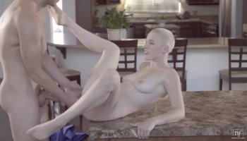 Lusty brunette Kimber Day gets her man alone in a hotel and then gives him a big blowjob and a...