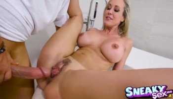 Stephanie's tight pussy banged hardcore while she screams